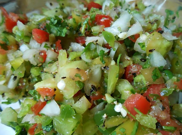 Pico de gallo.  I found some beautiful green tomatoes and love to use...