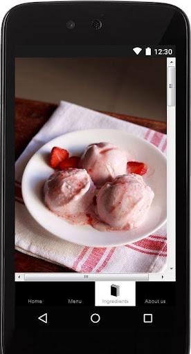 Eggless Strawberry Ice Cream