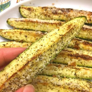 Baked Parmesan Garlic Zucchini.