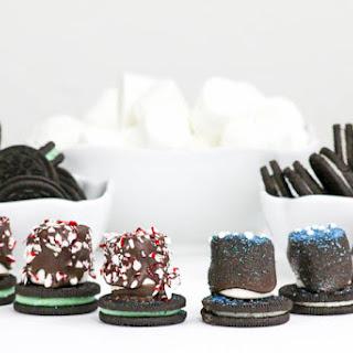 Holiday Marshmallow Oreo Hats #ChristmasWeek