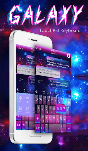 TouchPal Galaxy Keyboard Theme  screenshots 1