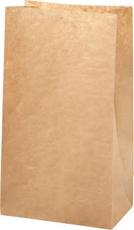 Påse 15x9x27 brun 100/fp