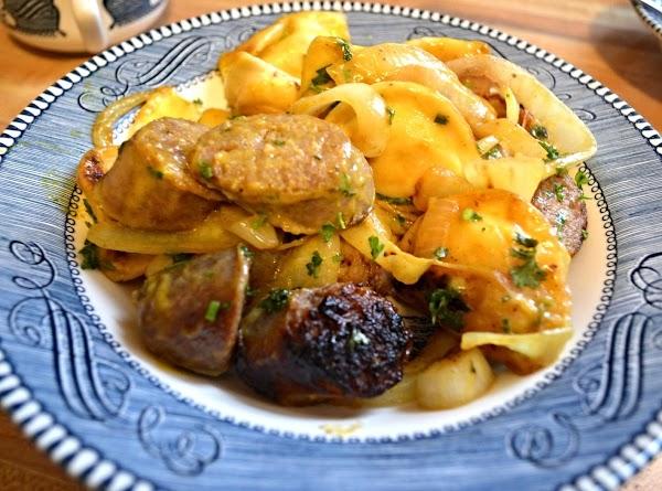 Bratwurst & Pierogies In Honey Mustard Sauce Recipe
