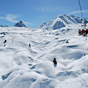 La Plagne by Mirna Abaffy - Landscapes Mountains & Hills ( ski, snowboard, winter, mountain, peace, snow, landscape )