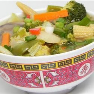 Chinese Chicken Vegetable Soup.