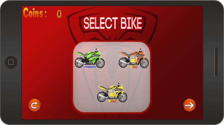 Spider Motobike Race- screenshot