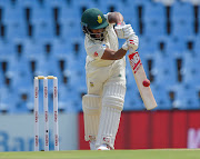 Temba Bavuma of South Africa to scored for the Proteas in their firrst innings scoring 53 runs off 87 to guide SA to 42-runs lead at lunch on the second day of the first Test between SA and Pakistan SuperSport Park in Centurion on Thursday December 27 2018.
