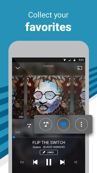 Deezer Music Player Screenshot Image