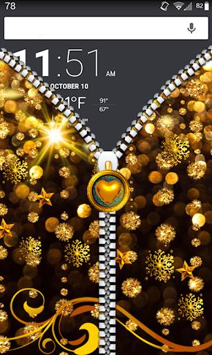Golden theme Zipper LockScreen