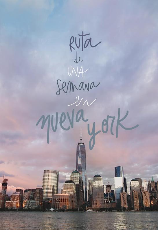 ruta de una semana en nueva york