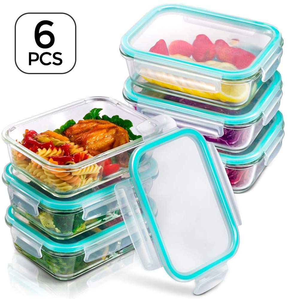 Glass Storage Meal Prep Containers