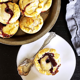 Mini Rum Plum Cherry Picnic Pies.