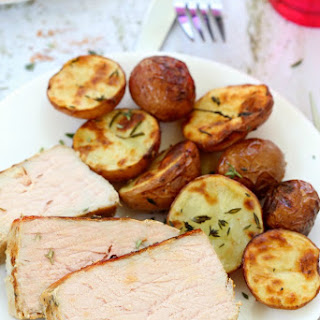 One Pan Garlic Herb Pork And Potatoes