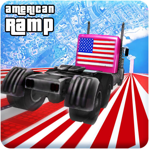 American Mega Ramp Truck Racing Stunts: Impossible