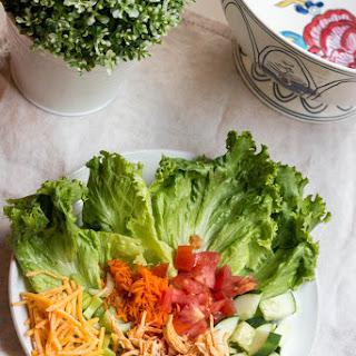 Slow Cooker Shredded Buffalo Chicken Salad