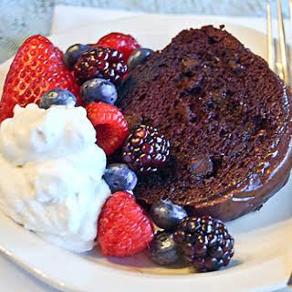 Berry-Glazed Chocolate Cake.