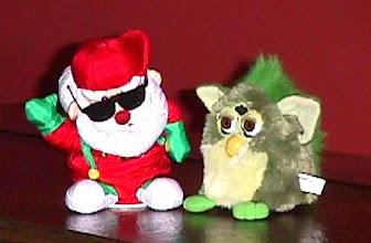 Photo: Dancing Santa with Packers Furby