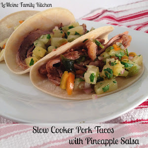 Slow Cooker Pork Tacos with Pineapple Salsa