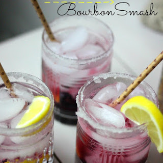 Blueberry Vanilla Bourbon Smash