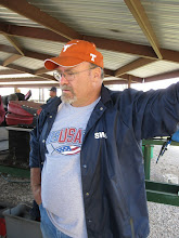 Photo: Rick Pike looking at the broken lubricator and knowing he will run no more today.  HALS 2009-0228