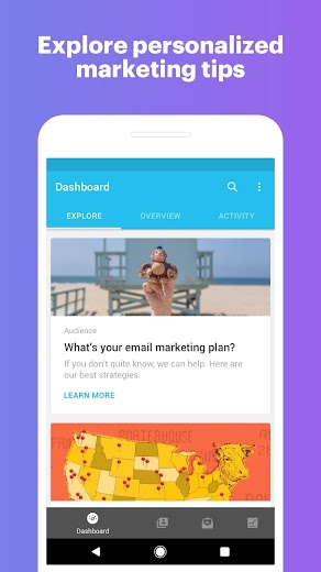 Screenshot 3 for MailChimp's Android app'