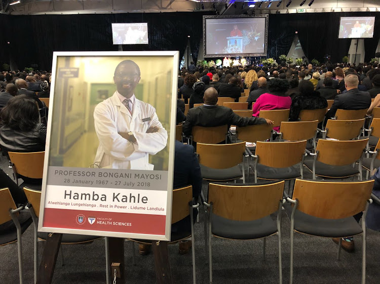 The funeral of University of Cape Town dean of health sciences Professor Bongani Mayosi was held on August 4, 2018 at Cape Town International Convention Centre.