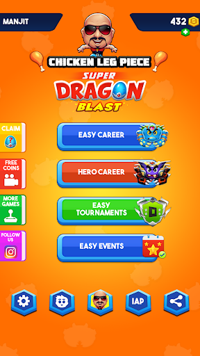 Télécharger Chicken Leg Piece - Dragon Blast apk mod screenshots 1