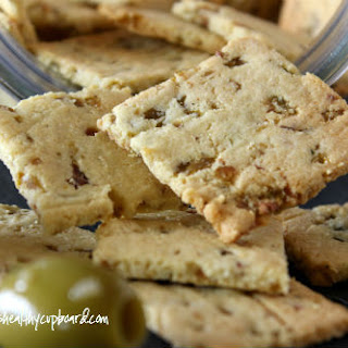 Olive Garlic Crackers