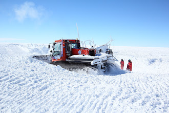 Photo: Pushing snow