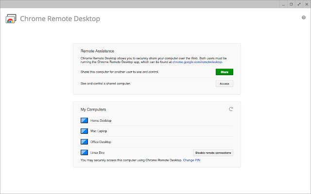 Chrome Remote Desktop Chrome Web Store