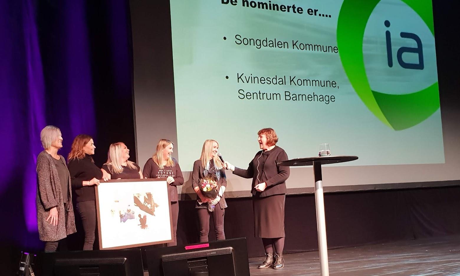 Bilde av prisutdelingen