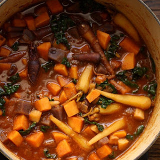 Root Vegetable Tagine with Kale Recipe