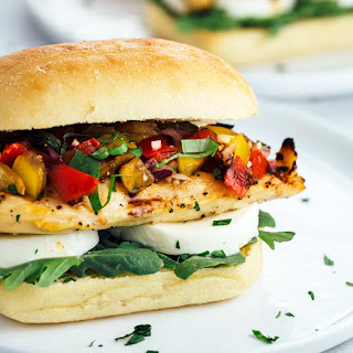 Italian Grilled Chicken Bruschetta Sandwich