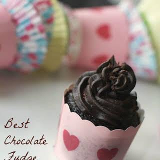 Best Homemade Chocolate Fudge Cupcakes and Chocolate Fudge Frosting.