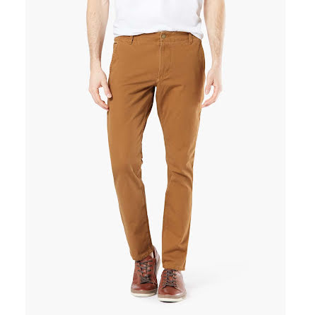 Dockers Alpha Khaki 360 skinny dark ginger