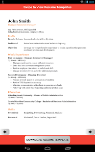 resume template creator free apps on google play