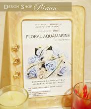 Photo: 大阪 プリザーブドフラワー教室「FLORAL AQUAMARINE」様 DMデザイン