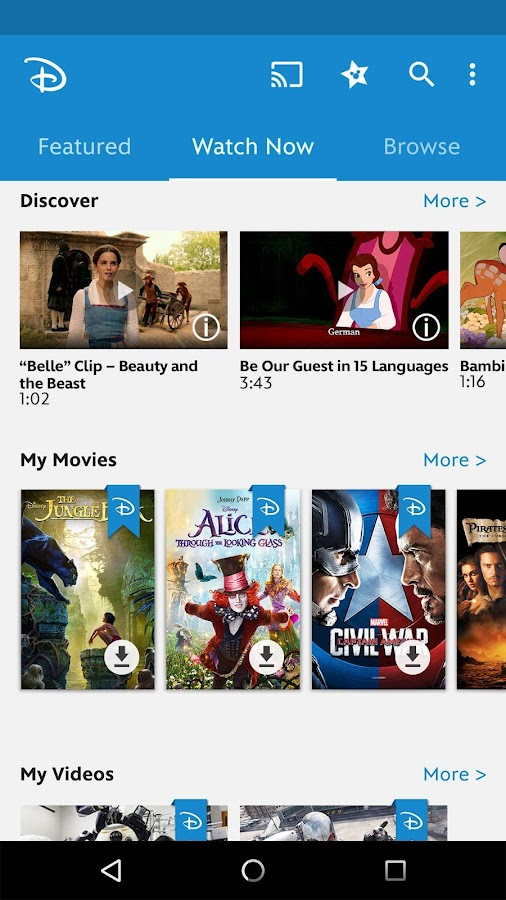 Disney Movies Anywhere- screenshot