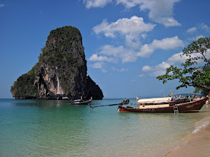 Photo: beautiful Phranang beach with limestone karst