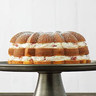 Strawberry Cream-Filled Cake.