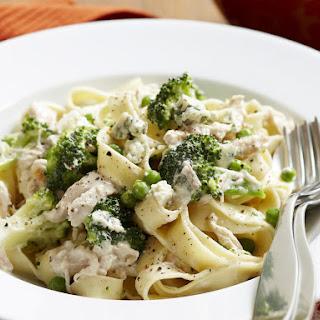 Creamy Chicken and Broccoli Pasta.