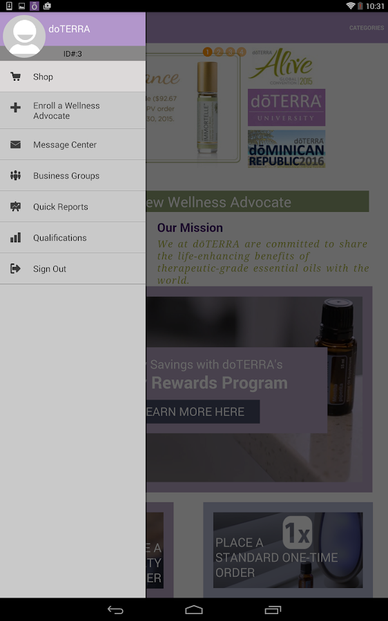 doTERRA- screenshot