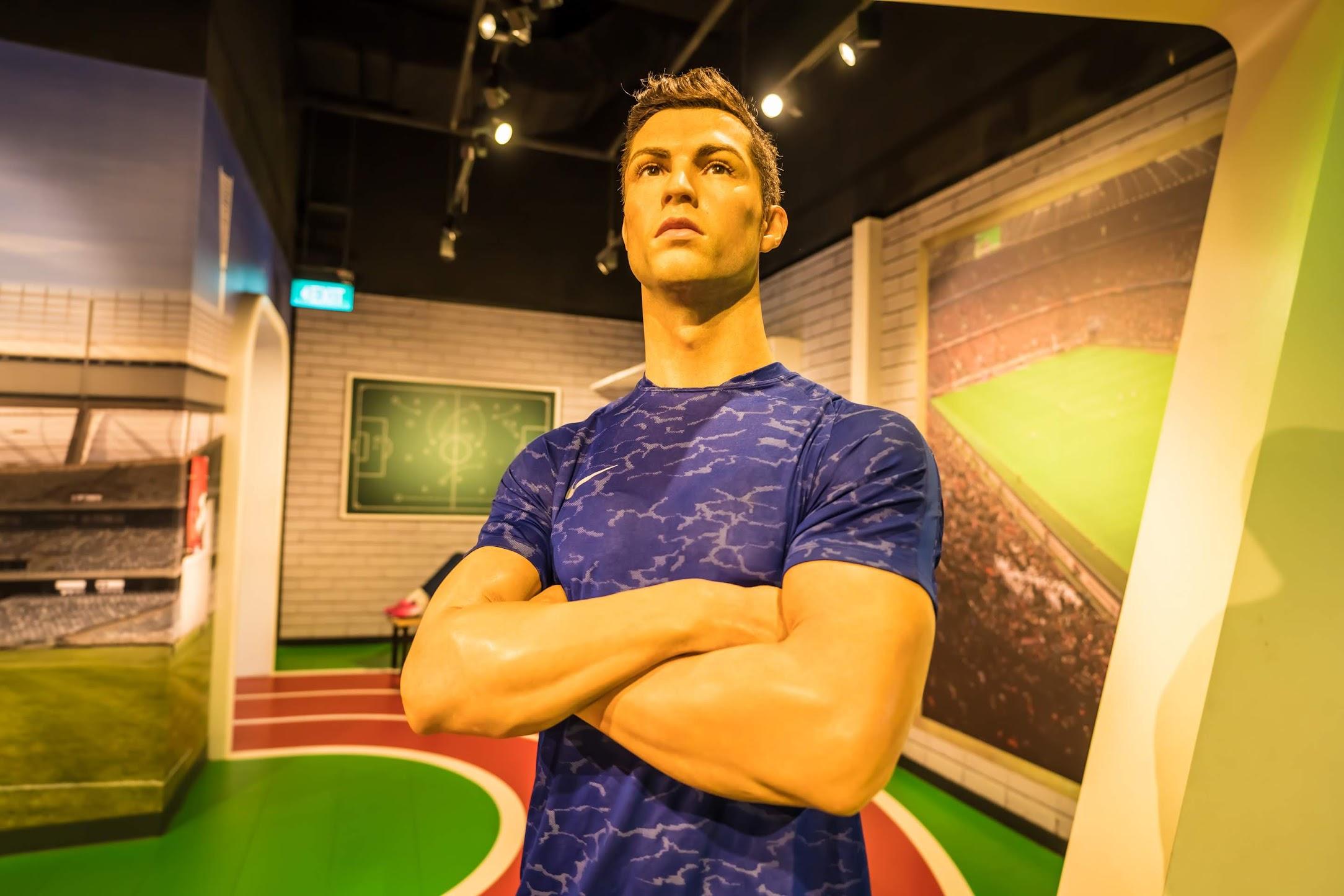 Singapore Sentosa Island Madame Tussauds Singapore Cristiano Ronaldo