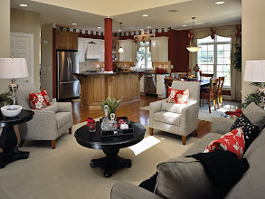 Photo: The living area as found in our original CATALINA townhome model at The Havilands in Queensbury, New York