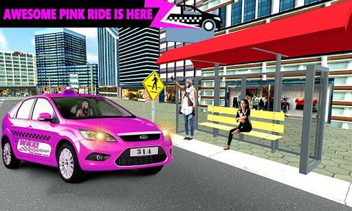 New York Taxi Duty Driver: Pink Taxi Games 2018 5.0 screenshots 17