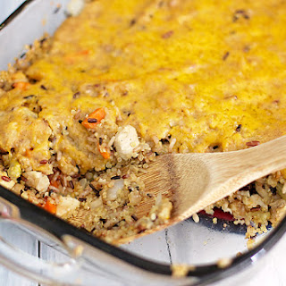 Chicken Quinoa Wild Rice Casserole