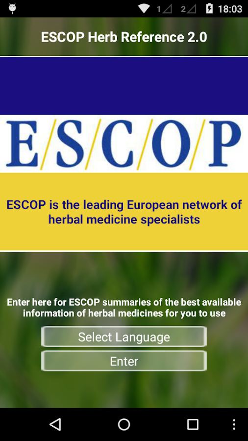 ESCOP Herb Reference- screenshot