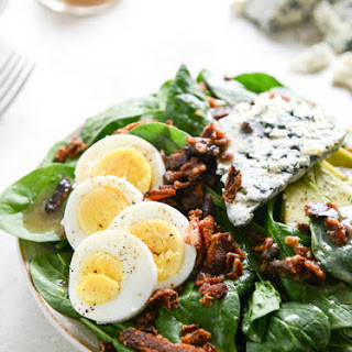 Killer Spinach Salads with Hot Bacon Dressing.