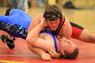 Photo: 195 pounds 1st Place - Round 2 - Alex Gray (Maple Grove) won by pin over Schoen Kichler (Waconia) (Pin 2:46)