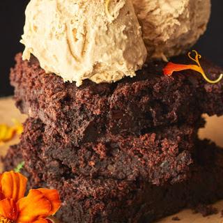 Black Bean Brownies with Two-Ingredient Ice Cream [Vegan, Gluten-Free] Recipe